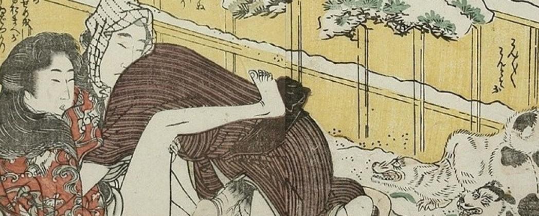 The Hostile Dogs of Kitagawa Utamaro II and His Teacher Utamaro