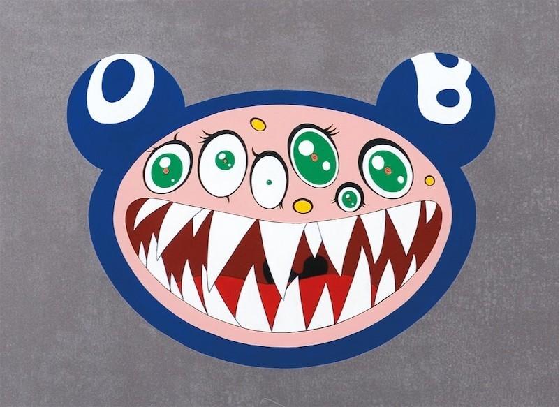 Jeff faerber painting honoring Takashi Murakami