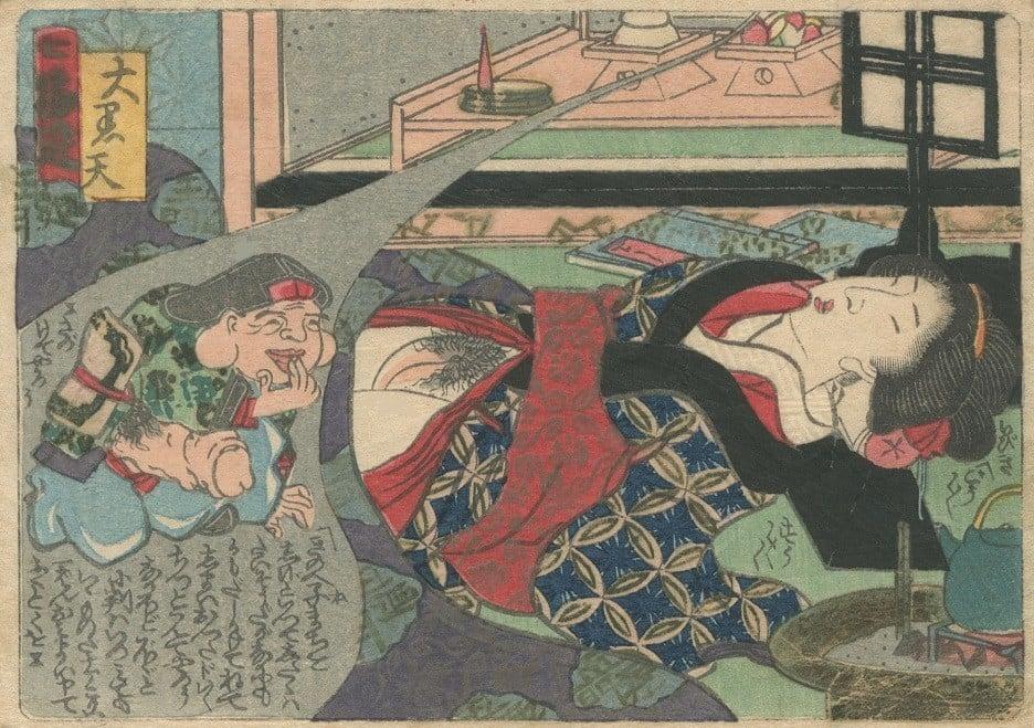'The dream appearance of Daikokuten' by Koiawa Shozan - the seven lucky gods