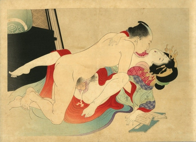 Yakumo no chigiri: high-ranking courtesan making love to a client
