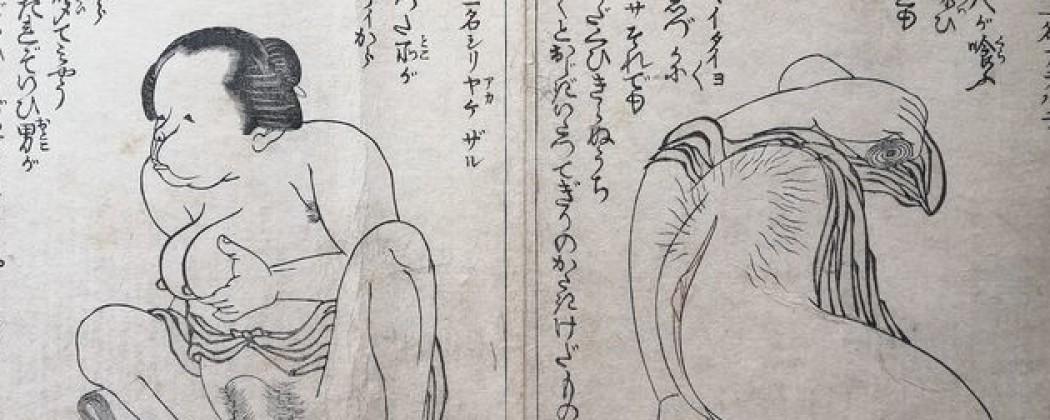 Hilarious Shunga Book with Grotesque Erotica by Akatsuki No Kanenari