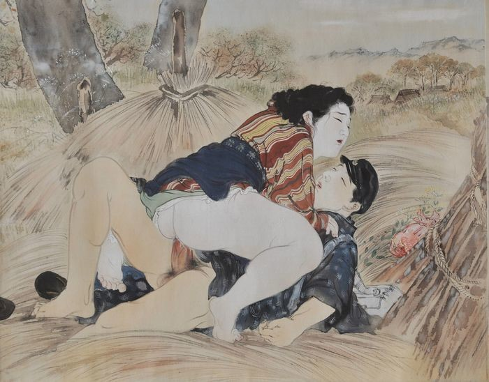 Takeuchi Seiho: candid intimate encounter in the rice field