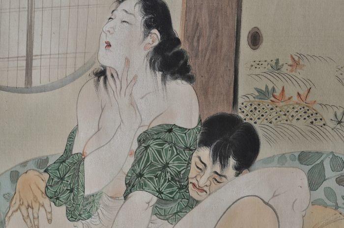 Takeuchi Seiho: shunga painting