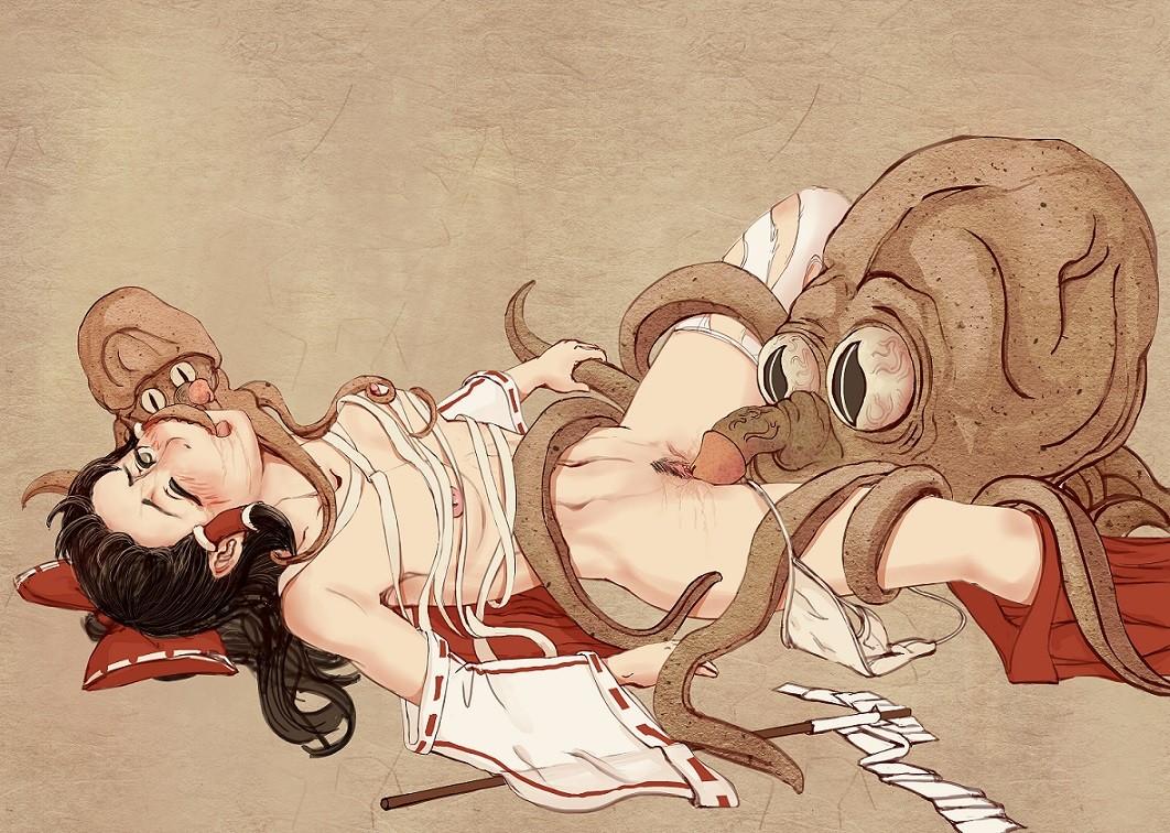 Hentai interpretation of 'The Dream of the Fisherman's Wife' Octopuses with phallic beacons