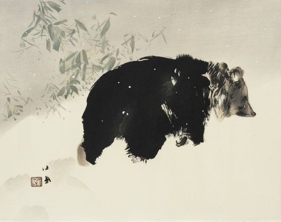 Takeuchi Seiho: Bear in snow
