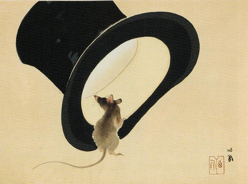 Takeuchi Seiho: Mouse and top hat