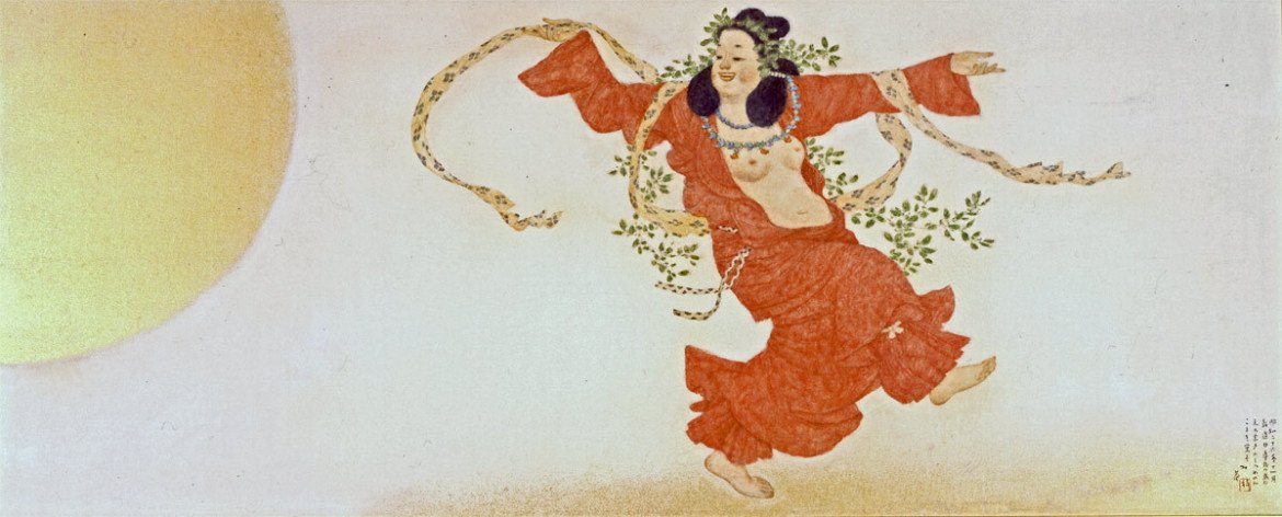 laughing pictures: 'Ame no Uzume' by Kosugi Hōan