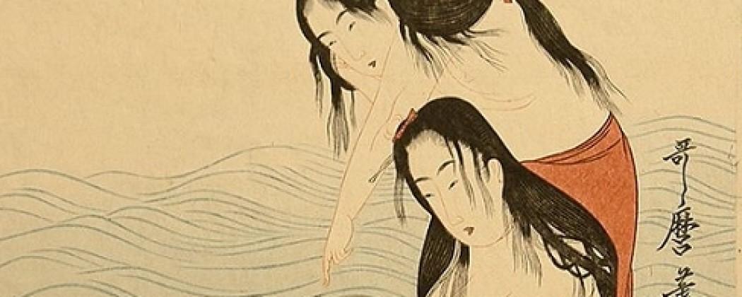 The Awabi Divers Triptych Masterpiece of Kitagawa Utamaro
