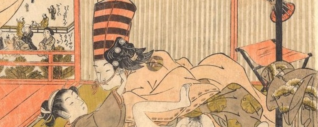 A Sambasō Dancer and Lover Rolling Through the Room