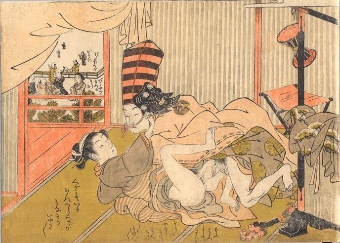 Sambaso dancer and lover by isoda Koryusai