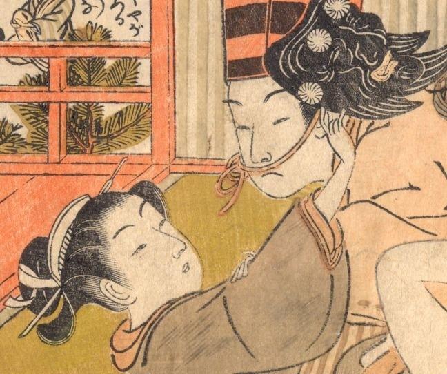 sambasō dancer: close up of the heads