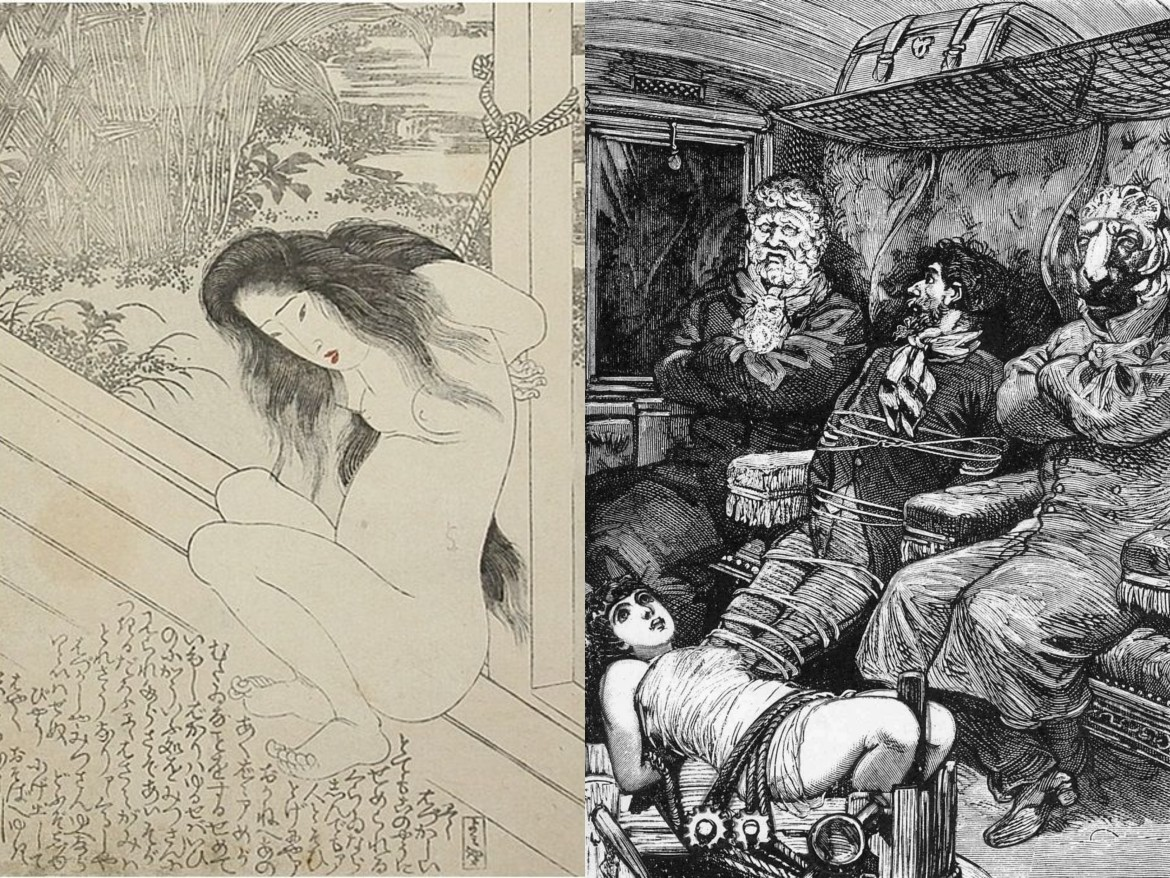 max ernst collage: tied woman by Toyokuni - a week of kindness