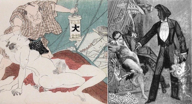 max ernst collage: deceitful wife by Keisai Eisen