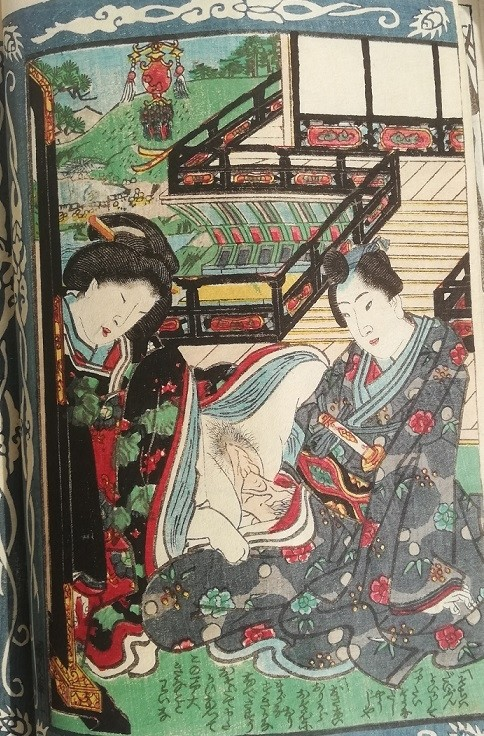 Ashikaga Yoshimitsu: On a gangway in a brothel, our tireless protagonist makes love to yet another female lover