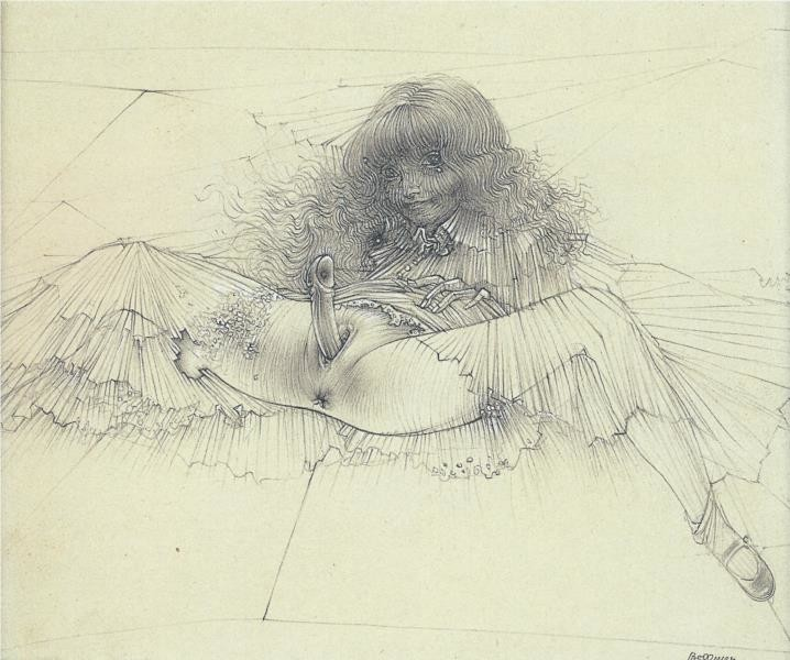 'Aigle Mademoiselle (Eagle Miss)' (1946) by Hans Bellmer