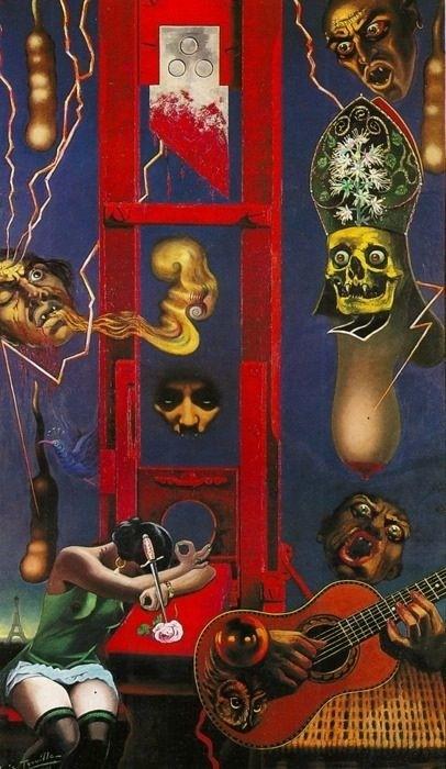 Camille Clovis Trouille: guillotine