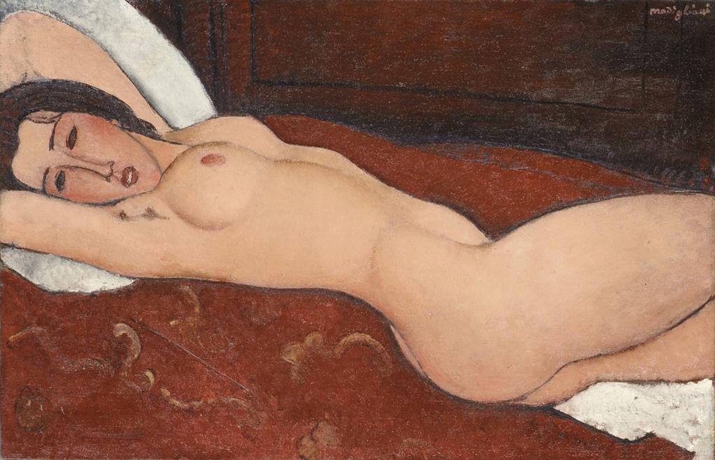 sensual modigliani: 'Reclining Nude' (1917)