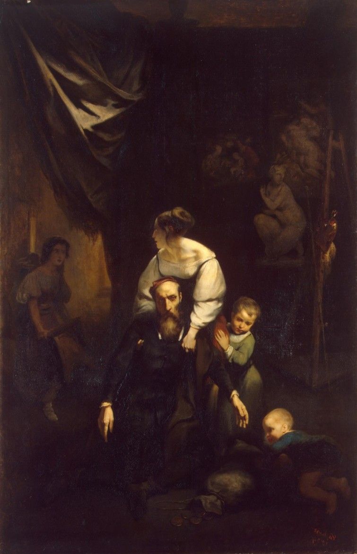 Octave Tassaert: The Death of Correggio