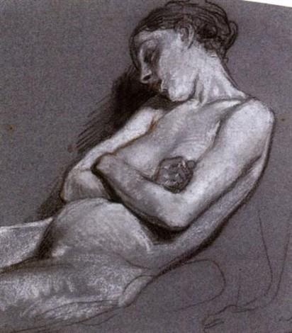 'The Sleeping Nude' (1850s) by Octave Tassaert