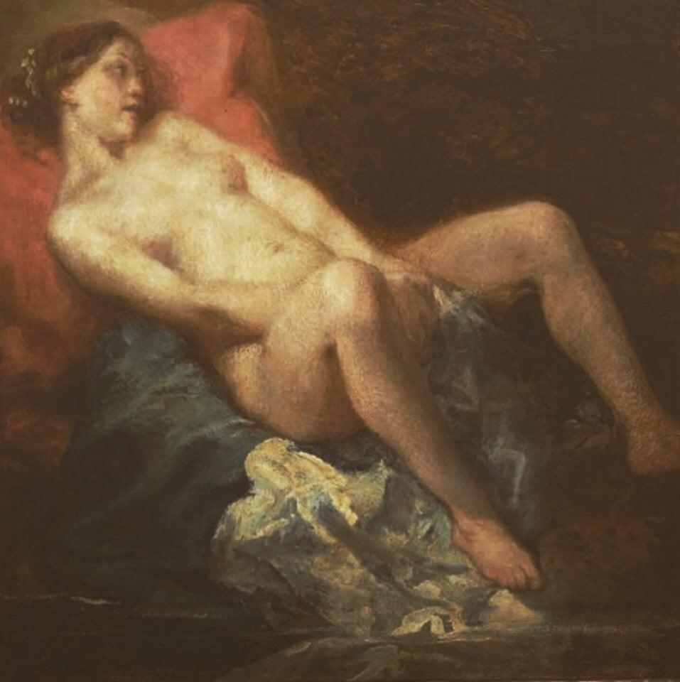 Octave Tassaert: 'The Nude Girl' (1846)