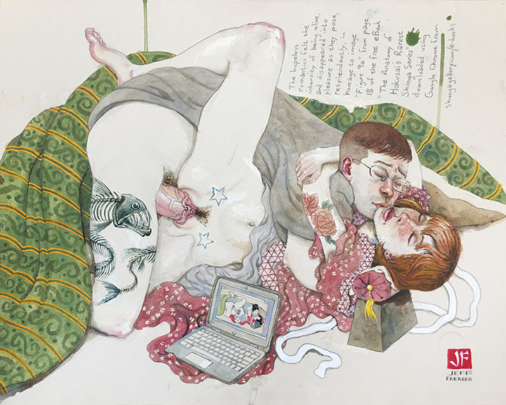 shunga gallery Jeff Faerber homage to Hokusai