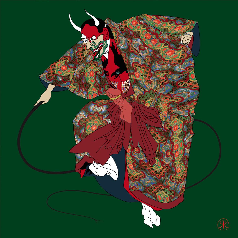 Reynolds and Rose: 'Horny Devil' (oni mask)