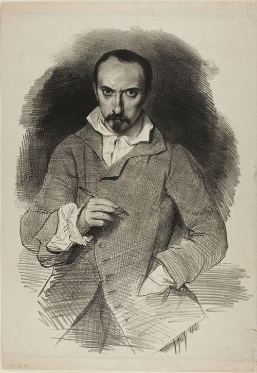 Achille Devéria self-portrait
