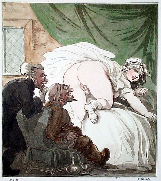 thomas rowlandson: erotic drawing with Susanna and the Elders