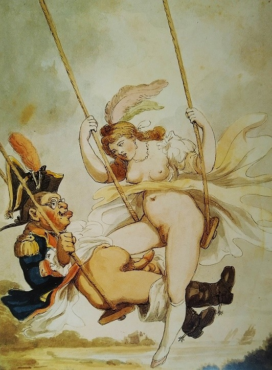 thomas rowlandson: erotic drawing with El columpio (In the Swing)