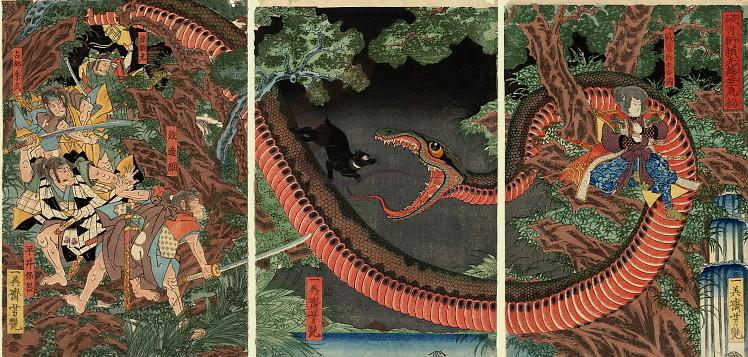 yoshitsuya triptych snake