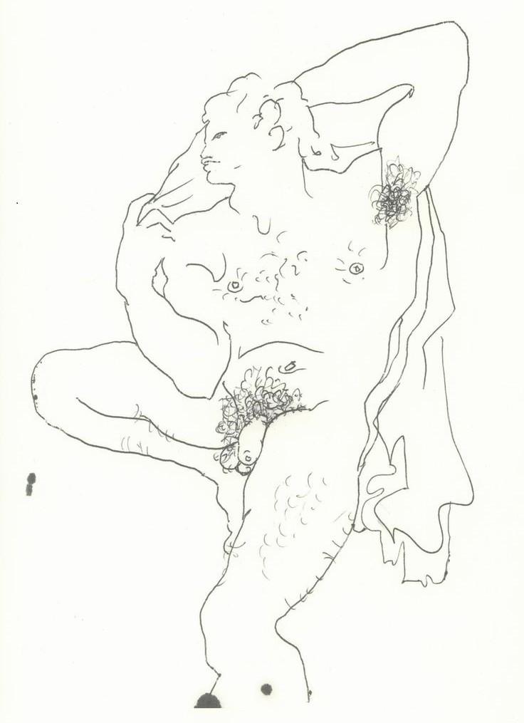jean cocteau resting man