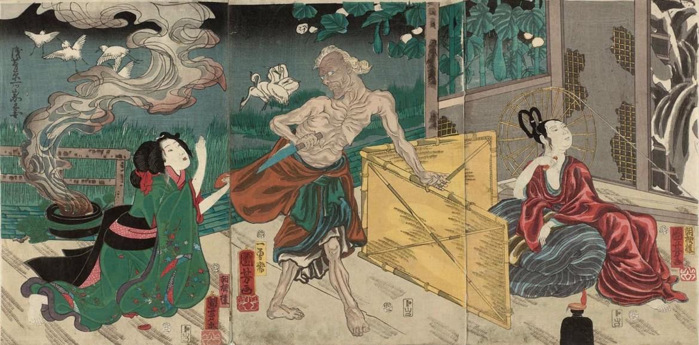 Kuniyoshi The Lonely House at Asajigahara