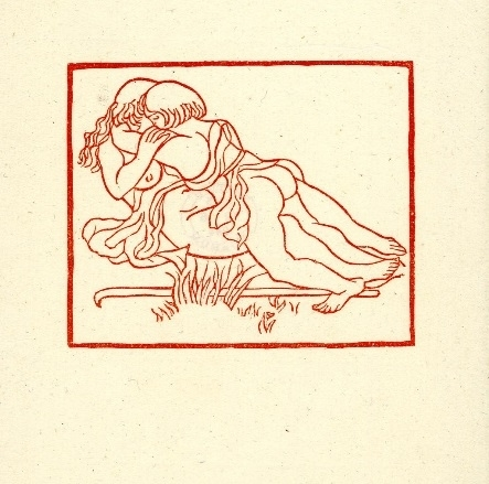 Young couple making love on grass Maillol