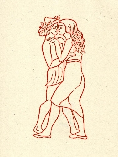 Young man and woman embracing Maillol
