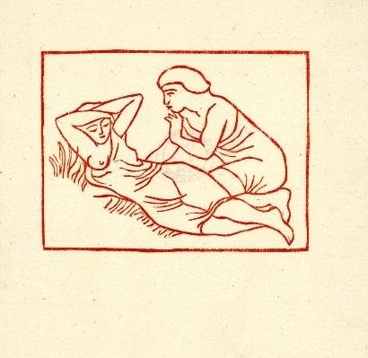 Young man approaching the reclining girl