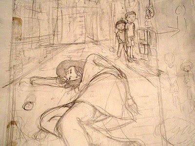 pencil sketch by Yuji Moriguchi