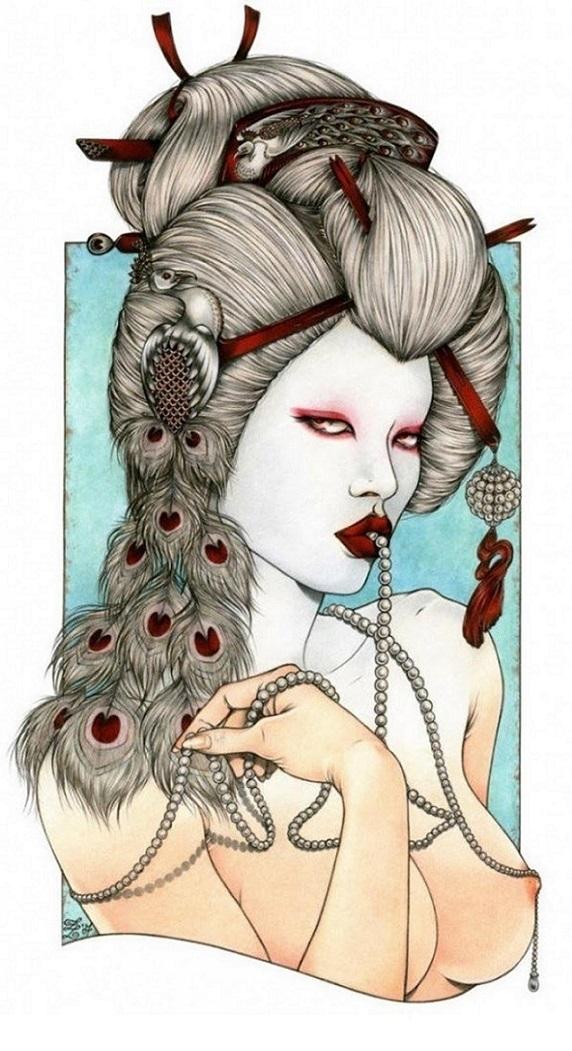 zoe lacchei Albino geisha