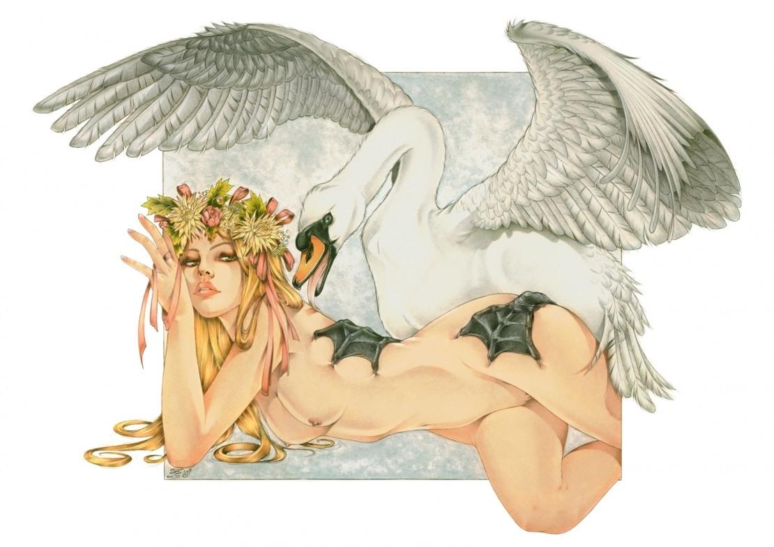 zoe lacchei Leda and the Swan