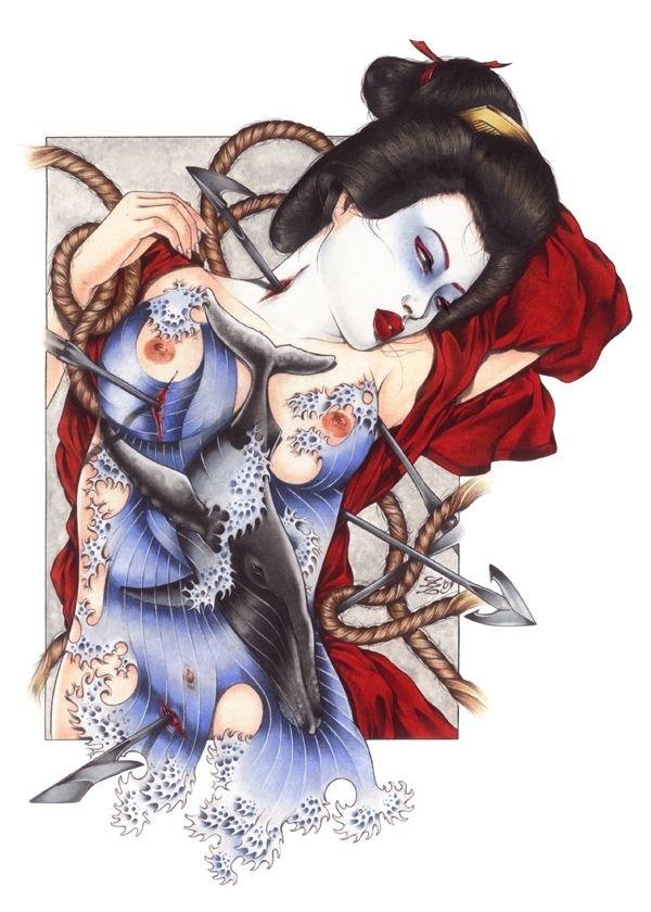 zoe lacchei tattooed Japanese female