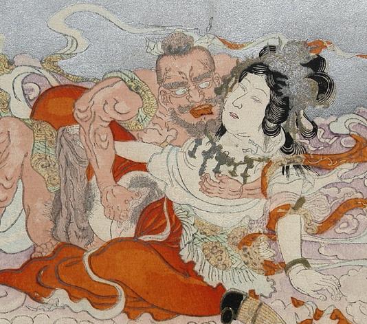Benzaiten-making-love-to-Bishamonten-by-Terukata