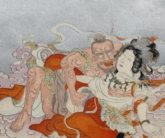 Bishamonten-making-love-to-Benzaiten-by-Terukata