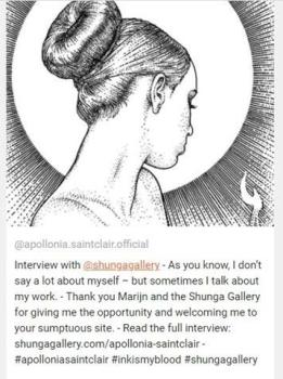 Apollonia Saintclair on instagram