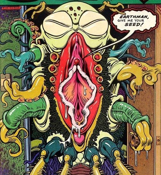 A vagina faced octopus monster