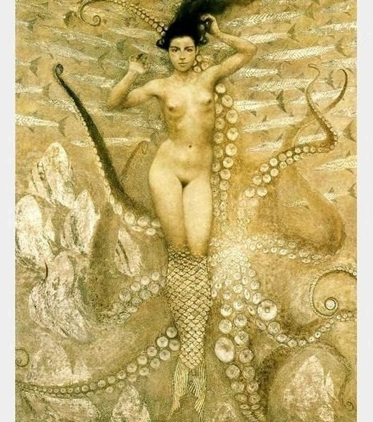 Half mermaid,half octopus girl