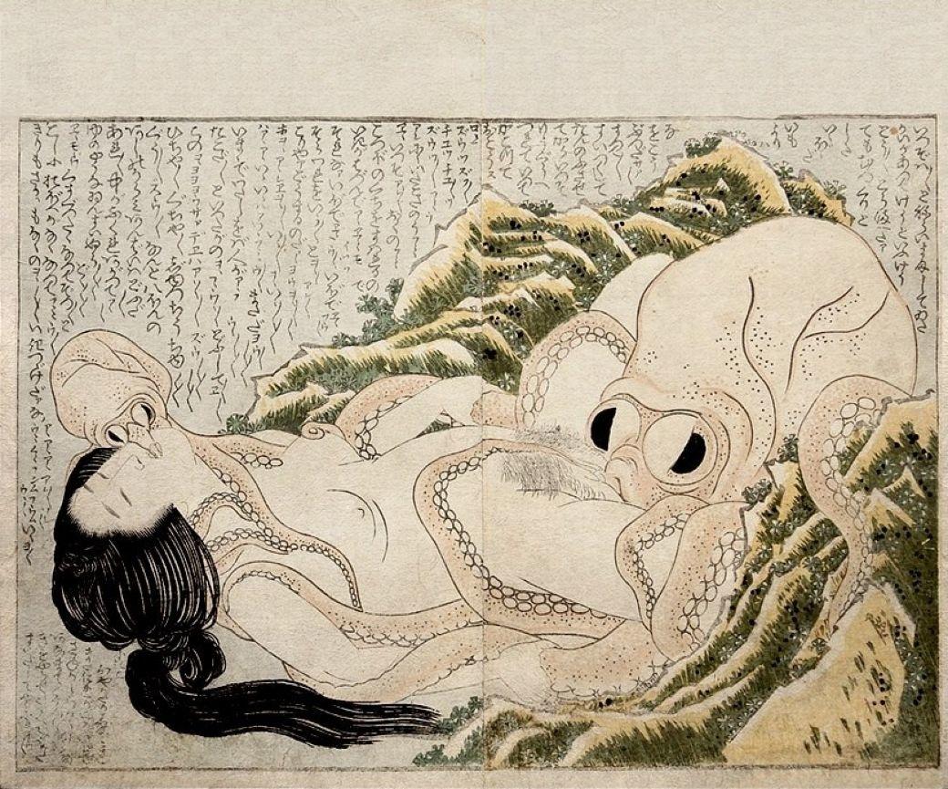 Octopus ravaging diver girl