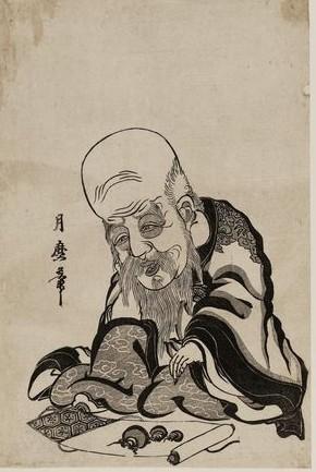 Fukorokuju by Kitagawa Tsukimaro (Source: Ukiyo-e.org)