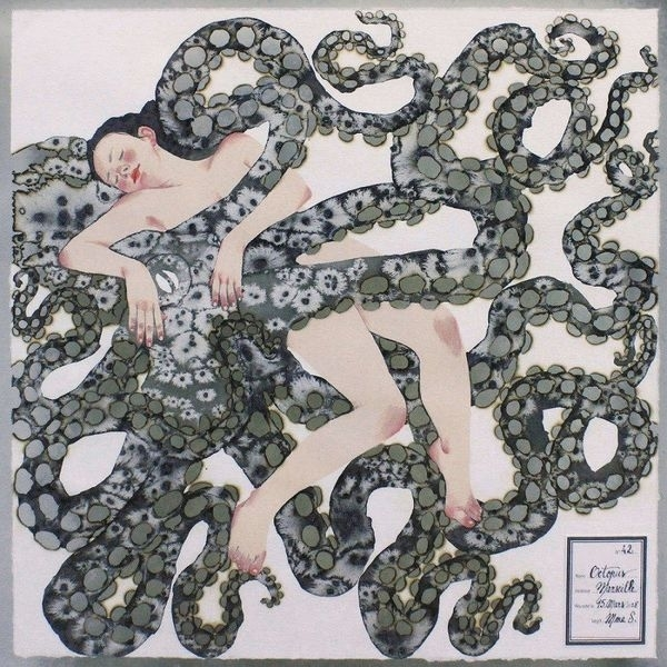 A woman sleeping in a bed of tentacles