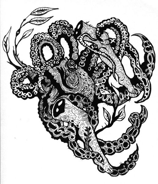 Modern tentacle art