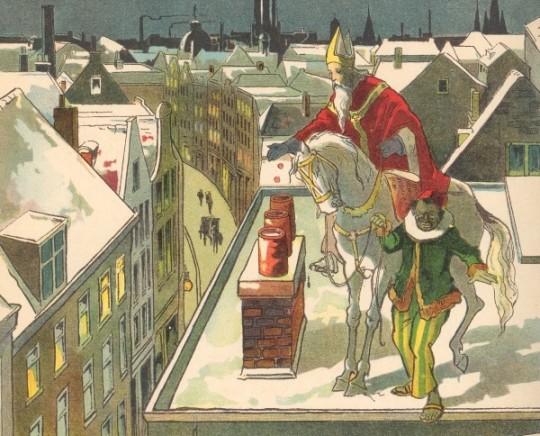 Sint Nicolaas op dak