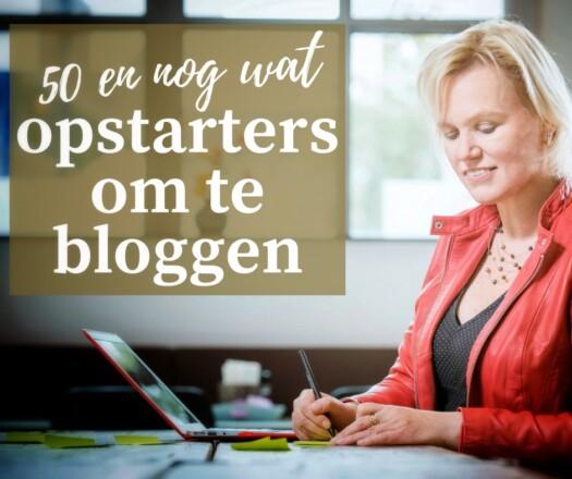 Opstarters om te bloggen